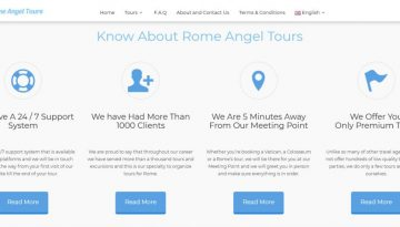 Rome Angel Tours Screen Capture